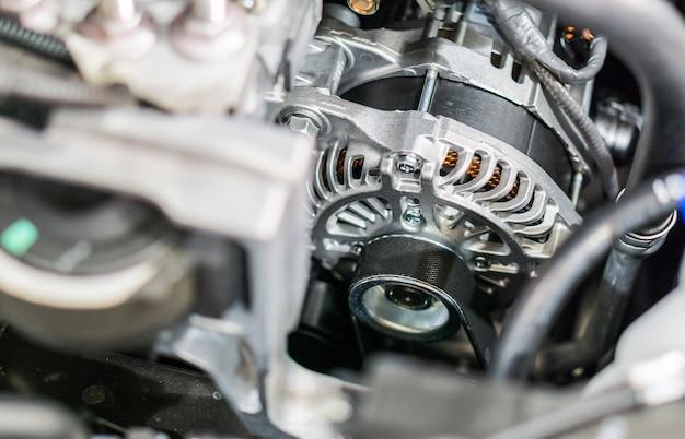 Dynamo voor auto en distributieriem selectief met soft focus