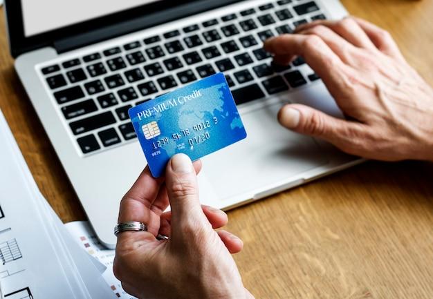 E-bankieren betaling financiële verbinding laptop