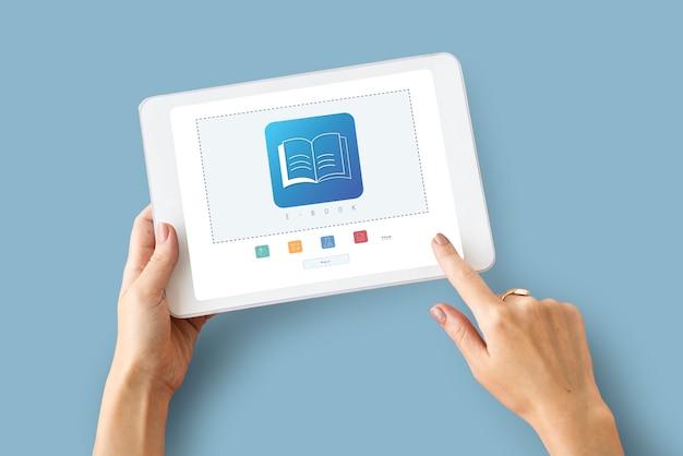 E-book online leren onderwijs kennis grafisch
