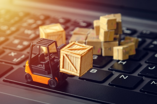 E-commerce logistieke magazijn industrie concept