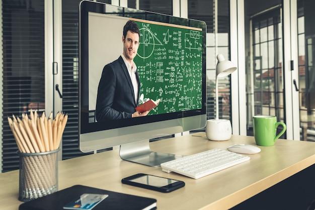 E-learning en online onderwijs voor studenten en universitair concept.