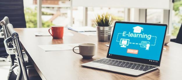 E-learning en online onderwijs voor studenten en universiteitsconcept