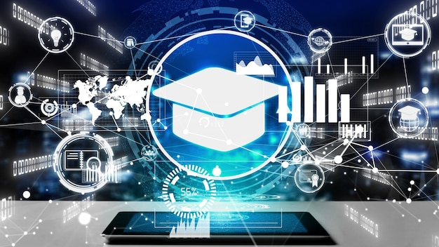 E-learning voor studenten en universiteit conceptueel
