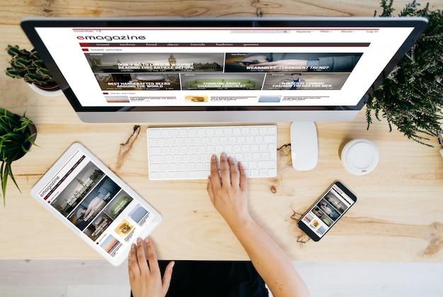 E-magazine overhead-apparaten