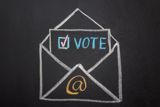 E-mail stemmen concept met krijt