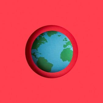 Earth globe gemaakt van papier