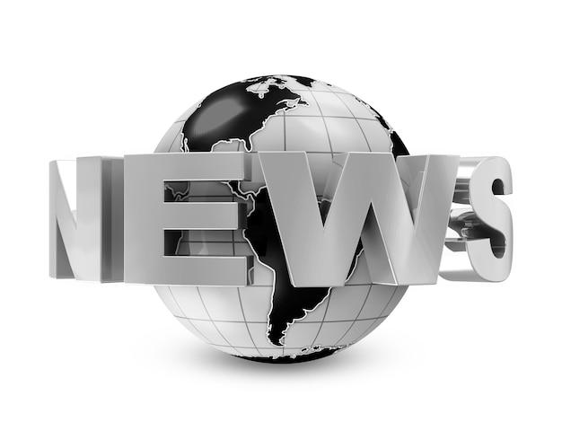 Earth globe met woord nieuws