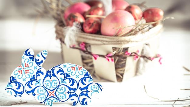 Easter decor bunny papier