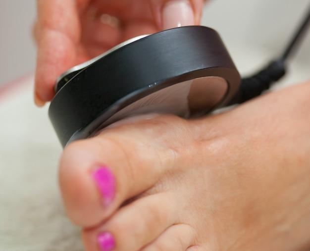 Echografie behandeling op de voet