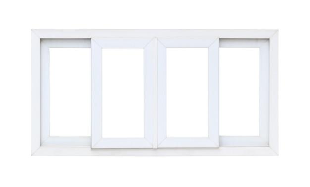 Echt modern huisraamkozijn dat op witte achtergrond wordt geïsoleerd Premium Foto