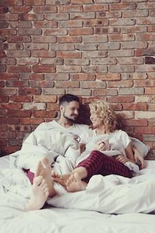 Echtpaar in bed
