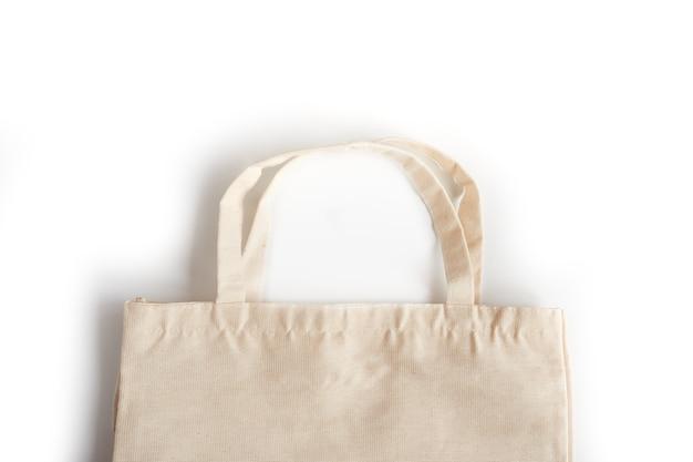 Eco boodschappentas gemaakt van stof. het concept van natuurbescherming, ecologie
