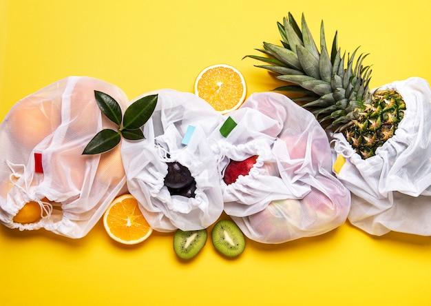 Eco boodschappentassen met fruit