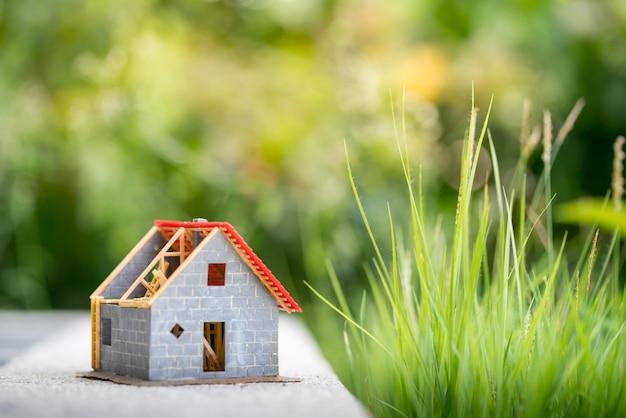 Eco klein huis en woonwijk