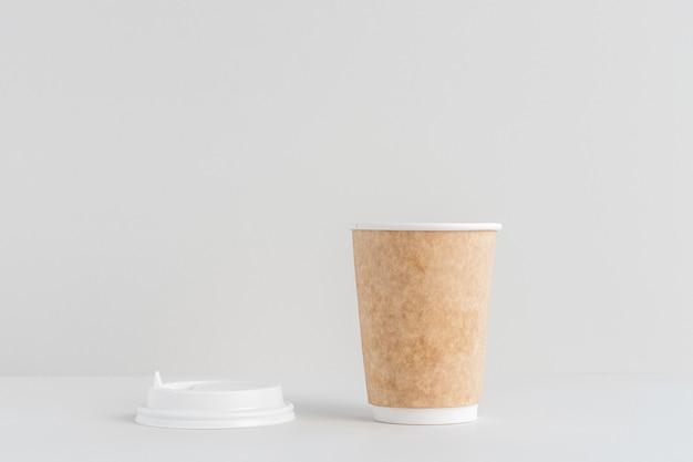 Eco papier koffiekopje nul afval concept