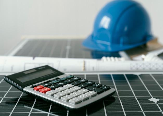 Eco-projectelementen en rekenmachine
