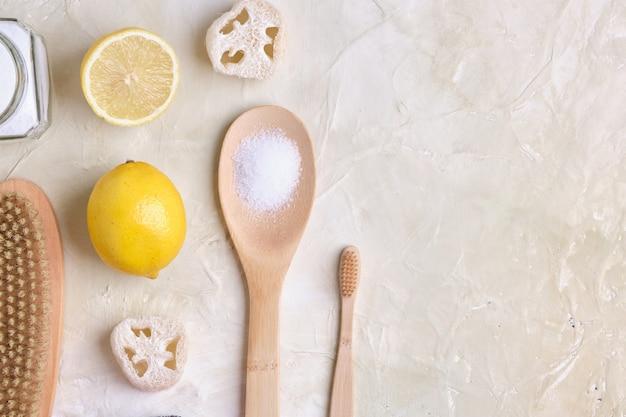 Eco-reinigingsconcept natuurlijke niet-giftige wasmiddelen