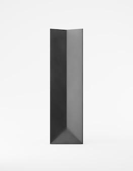 Eco-verpakking mockup tas kraftpapier kant. lang smal zwart sjabloon op witte promotionele reclame als achtergrond. 3d-weergave