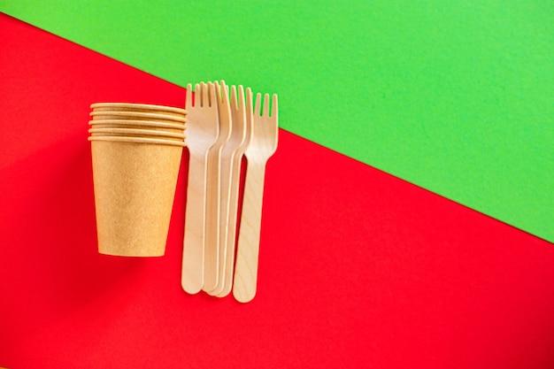 Eco-vriendelijk biologisch zetmeel serviesgoed geen afval wegwerp fastfood containers