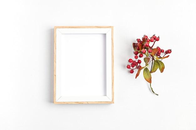 Eco-vriendelijke kerstvakantie decoratie Premium Foto