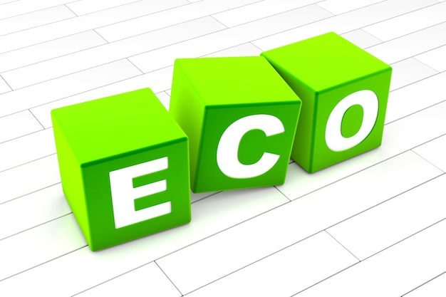 Eco woord illustratie
