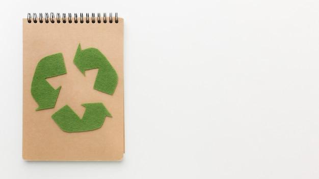 Ecologisch notitieboek met kopie-ruimte