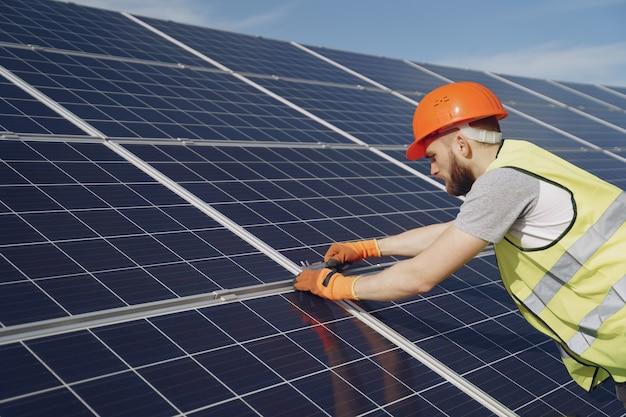 Ecologische concept van alternatieve energie.