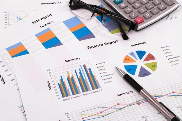 Economische begroting kwartaal trend op de markt