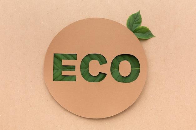 Ecoteken met bladeren