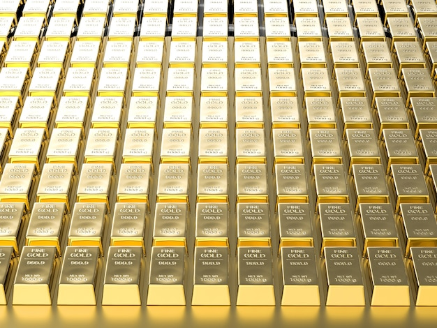 Edelmetaal achtergrond of goudstaaf achtergrond