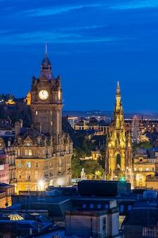 Edinburgh zonsondergang