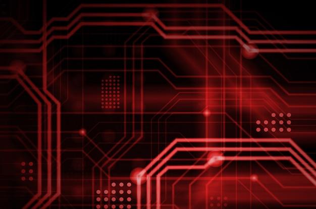 Een abstracte technologische achtergrond bestaande uit een veelvoud aan lichtgevende geleidingslijnen