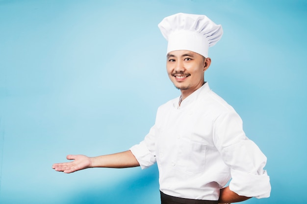 Een aziatische mannelijke chefœgray