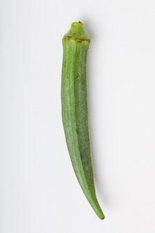 Een biologische en gezonde okra of damesvinger