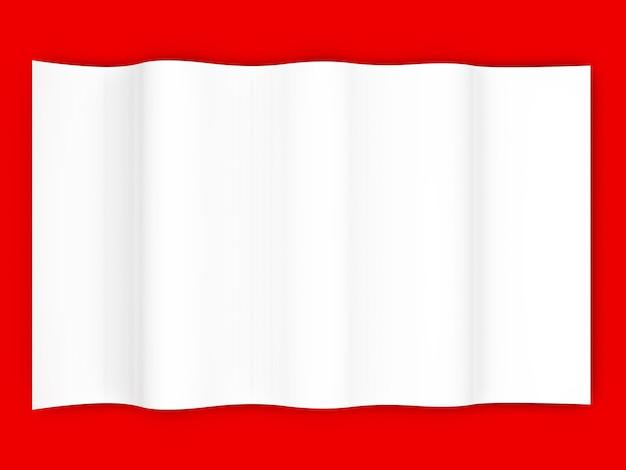 Een blanco vel papier. 3d weergegeven afbeelding.