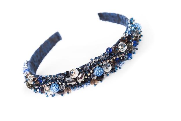 Een blauwe sieraden hoofdbanden voor vrouwelijk haar