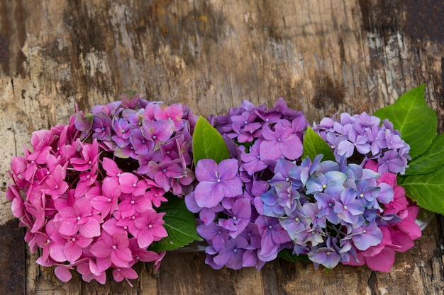 Een boeket hortensia's