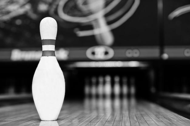 Eén bowling, bowlingbaan
