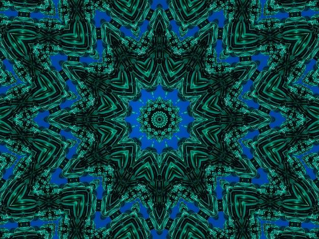 Een caleidoscooppatroon van nefritis gevormd door lijnen en vlekken van natuurlijke minerale textuur. verbazingwekkende natuurlijke patronen en texturen van een plakje groene en zwarte mineralen. lus afbeelding effect.