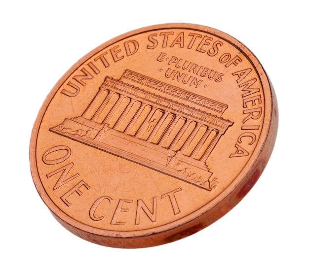 Een centmuntstuk op de nationale bank van ongebonden staten