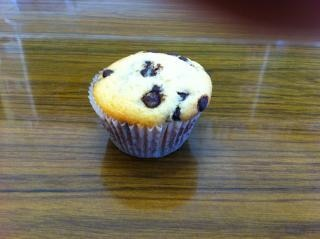 Een choc chip muffin