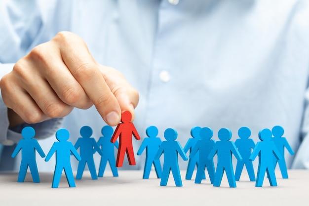 Een concept van het kiezen van een goede leider