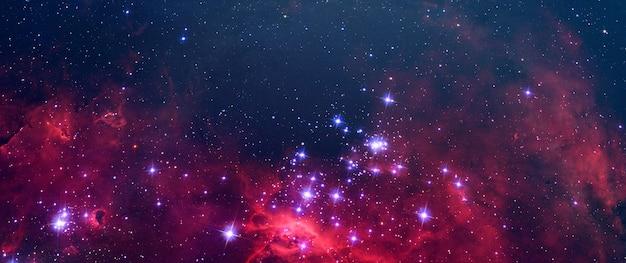 Een creatieve surrealistische wetenschap abstracte melkweghemel met veel sterren, kleurstofelementen van deze afbeelding geleverd door nasa