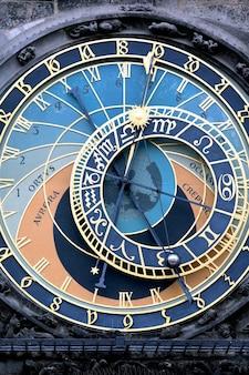 Een deel van de beroemde zodiacal klok in praag
