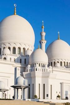 Een deel van de grote moskee van sheikh zayed, verenigde arabische emiraten
