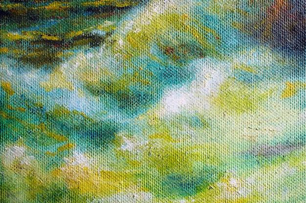 Een deel van het olieverfschilderij