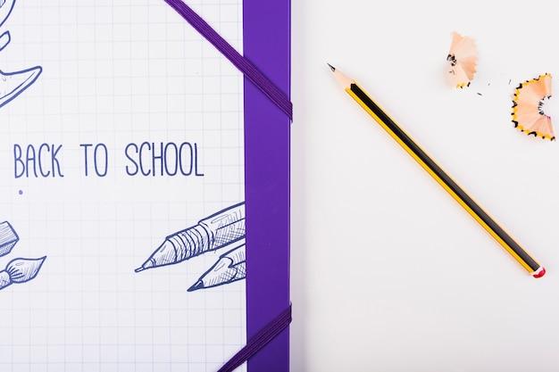 Een deel van illustratie met potlood