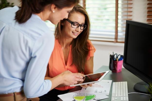 Een digitale tablet is altijd handig op het werk