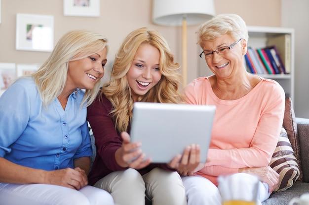 Een digitale tablet is een goed amusement voor ons