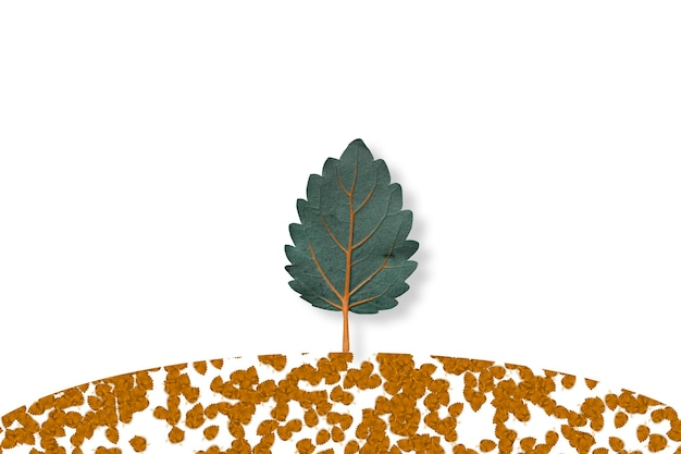 Een eenzame boom die het herfstseizoen uitbeeldt
